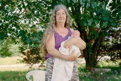Mamaw Vanover Babysitting the Newborn. McCreary County, KY.  2019 - Rachel Boillot